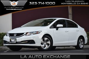 2014 Honda Civic Sedan LX Carfax 1-Owner 4 Cylinders 5 Person Seating Capacity Audio  Auxiliar