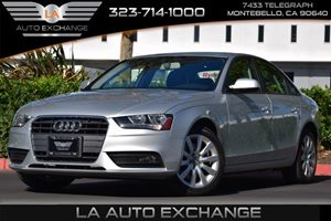 2014 Audi A4 Premium Carfax 1-Owner Convenience  Adjustable Steering Wheel Convenience  Automa