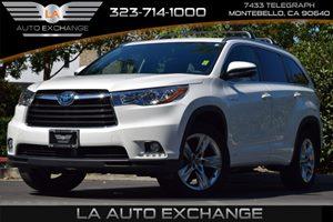 2016 Toyota Highlander Hybrid Limited Carfax 1-Owner 3542 Axle Ratio Airbag Occupancy Sensor A