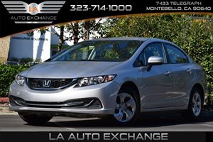 2015 Honda Civic Sedan LX Carfax 1-Owner - No AccidentsDamage Reported Front And Rear Anti-Roll