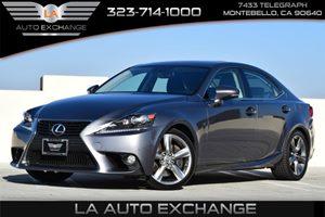 2014 Lexus IS 350  Carfax 1-Owner 100 Amp Alternator 313 Axle Ratio Airbag Occupancy Sensor C