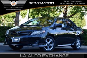 2013 Toyota Corolla S Carfax Report  Black Sand Pearl 15748 Per Month -ON APPROVED CREDIT-
