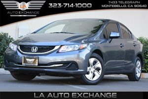 2013 Honda Civic Sdn LX Carfax 1-Owner  Alabaster Silver Metallic  Happy Holiday Sale at LA Au