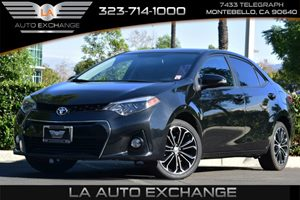 2014 Toyota Corolla S Carfax 1-Owner - No AccidentsDamage Reported  Black Sand Mica  Happy Ho