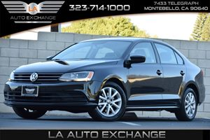 2015 Volkswagen Jetta Sedan 18T SE Carfax 1-Owner 4 Cylinders Black Door Handles Black Grille