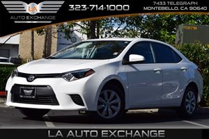 2016 Toyota Corolla LE Carfax 1-Owner - No AccidentsDamage Reported 476 Axle Ratio 80 Amp Alte