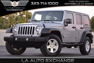 2015 Jeep Wrangler Unlimited Sport Carfax 1-Owner - No AccidentsDamage Reported  Black Clearco