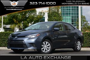 2015 Toyota Corolla LE Carfax 1-Owner - No AccidentsDamage Reported  Gray -13499 18347
