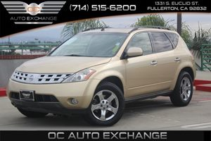 2003 Nissan Murano SL Carfax 1-Owner - No AccidentsDamage Reported  Luminous Gold Metallic  W