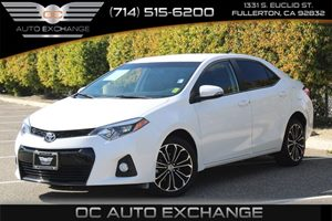 2015 Toyota Corolla S Carfax 1-Owner  Super White 16658 Per Month - On Approved Credit See