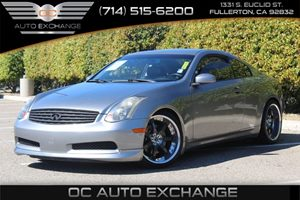 2005 INFINITI G35 Coupe  Carfax Report - No AccidentsDamage Reported  Gray          15893 P