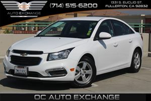 2015 Chevrolet Cruze LT Carfax 1-Owner - No AccidentsDamage Reported  Summit White