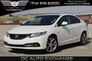 2013 Honda Civic Sdn Si Carfax 1-Owner - No AccidentsDamage Reported  Taffeta White 22504 P