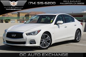 2014 INFINITI Q50 Premium Carfax 1-Owner - No AccidentsDamage Reported  Moonlight White