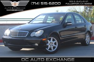 2003 MERCEDES C240 Sedan Carfax Report - No AccidentsDamage Reported  Black          8875 P