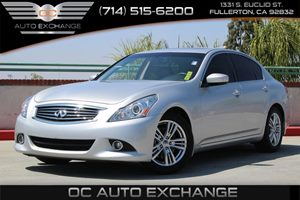 2013 INFINITI G37 Sedan Journey Carfax 1-Owner - No AccidentsDamage Reported  Silver