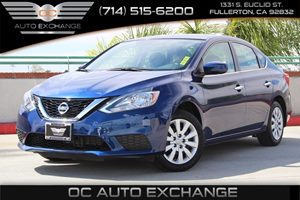 2016 Nissan Sentra SV Carfax 1-Owner - No AccidentsDamage Reported  Deep Blue Pearl