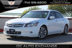 2012 Honda Accord Sdn EX-L Carfax Report  White          17307 Per Month - On Approved Credi