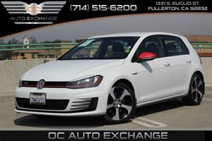 2016 Volkswagen Golf GTI S Carfax 1-Owner - No AccidentsDamage Reported  Pure White