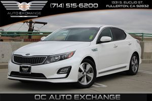 2014 Kia Optima Hybrid EX Carfax 1-Owner - No AccidentsDamage Reported  Snow White Pearl