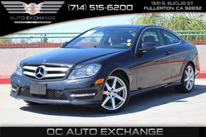2013 MERCEDES C250 Coupe Carfax 1-Owner - No AccidentsDamage Reported  Black          26401