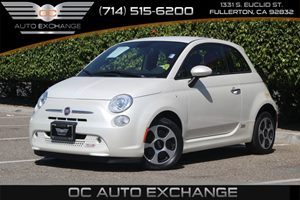 2013 FIAT 500e BATTERY ELECTRIC  Carfax 1-Owner - No AccidentsDamage Reported  Bianco Perla P