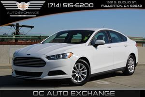 2015 Ford Fusion S Carfax 1-Owner  Oxford White          16658 Per Month - On Approved Credi