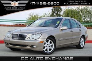 2003 MERCEDES C240 Sedan Carfax 1-Owner - No AccidentsDamage Reported  Gold          10278