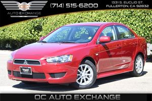 2014 Mitsubishi Lancer ES Carfax Report - No AccidentsDamage Reported  Rally Red Metallic -