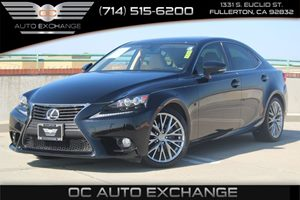 2014 Lexus IS 250  Carfax 1-Owner - No AccidentsDamage Reported  Black          29689 Per M