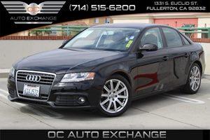 2011 Audi A4 20T Premium Carfax Report - No AccidentsDamage Reported  Brilliant Black
