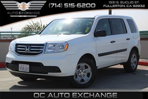 2014 Honda Pilot LX Carfax 1-Owner  Taffeta White          2835 Per Month - On Approved Cred