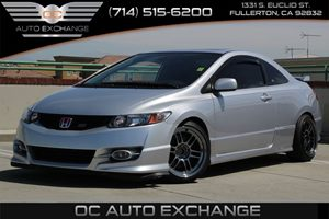 2009 Honda Civic Cpe Si Carfax Report - No AccidentsDamage Reported  Alabaster Silver Metallic
