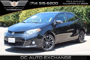 2014 Toyota Corolla S Plus Carfax 1-Owner - No AccidentsDamage Reported  Black Sand Mica