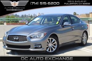 2014 INFINITI Q50a  Carfax 1-Owner  Gray  We are not responsible for typographical errors All