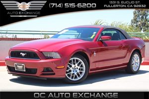 2014 Ford Mustang V6 Premium Carfax 1-Owner - No AccidentsDamage Reported  Ruby Red Metallic T