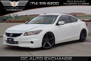 2011 Honda Accord Cpe LX-S Carfax Report - No AccidentsDamage Reported  Taffeta White