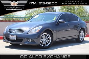 2012 INFINITI G37 Sedan Journey Carfax Report  Blue Slate          21205 Per Month - On Appr
