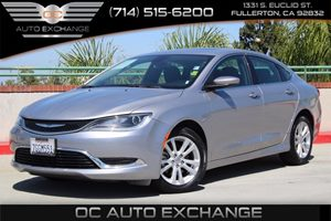 2015 Chrysler 200 Limited Carfax Report  Billet Silver Metallic Clearcoat          15893 Per