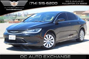 2015 Chrysler 200 LX Carfax 1-Owner  Black Clearcoat -          15748 Per Month - On Approv