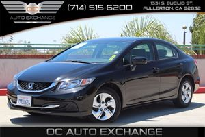 2015 Honda Civic Sedan LX Carfax 1-Owner - No AccidentsDamage Reported  Crystal Black Pearl