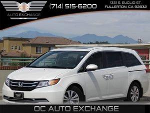 2014 Honda Odyssey EX-L Carfax Report  White Diamond Pearl         35124 Per Month - On Appr