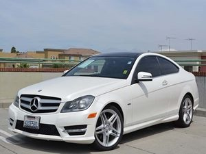 2012 MERCEDES C350 Coupe Carfax 1-Owner  Arctic White         2809 Per Month - On Approved C