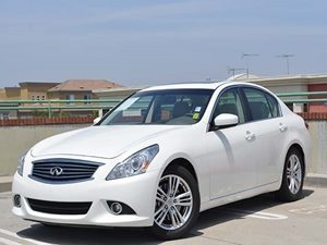 2013 Infiniti G37 Sedan Journey Carfax 1-Owner  White  We are not responsible for typographica