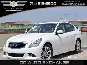 2013 Infiniti G37 Sedan Journey Carfax 1-Owner Air Conditioning  Climate Control Air Conditioni