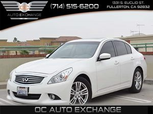 2012 Infiniti G37 Sedan Journey Carfax 1-Owner - No Accidents  Damage Reported to CARFAX  Whit