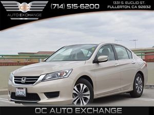2013 Honda Accord Sdn LX Carfax 1-Owner - No Accidents  Damage Reported to CARFAX  Champagne F