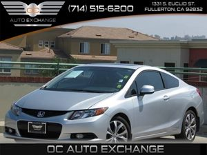 2012 Honda Civic Cpe Si Carfax 1-Owner  Alabaster Silver Metallic         21724 Per Month -