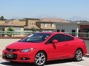 2012 Honda Civic Cpe Si Carfax 1-Owner - No Accidents  Damage Reported to CARFAX  Rallye Red