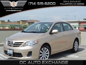 2013 Toyota Corolla LE Carfax 1-Owner Air Conditioning  AC Audio Satellite Radio Fuel Econom